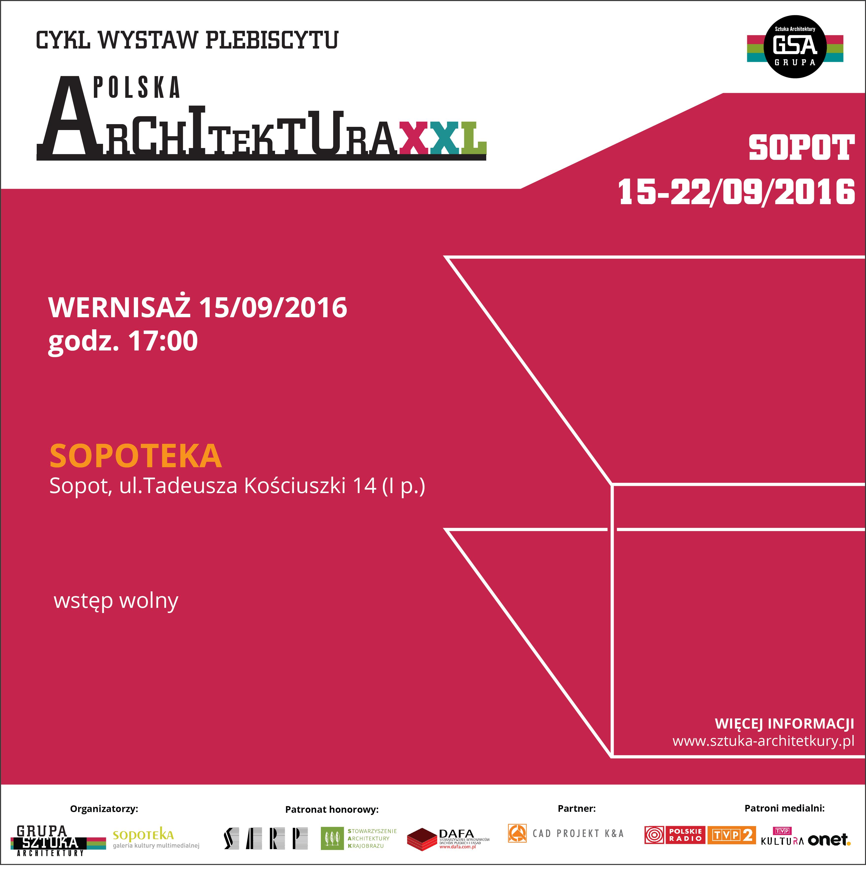WYSTAWA POLSKA ARCHITEKTURA 2015 W SOPOCIE