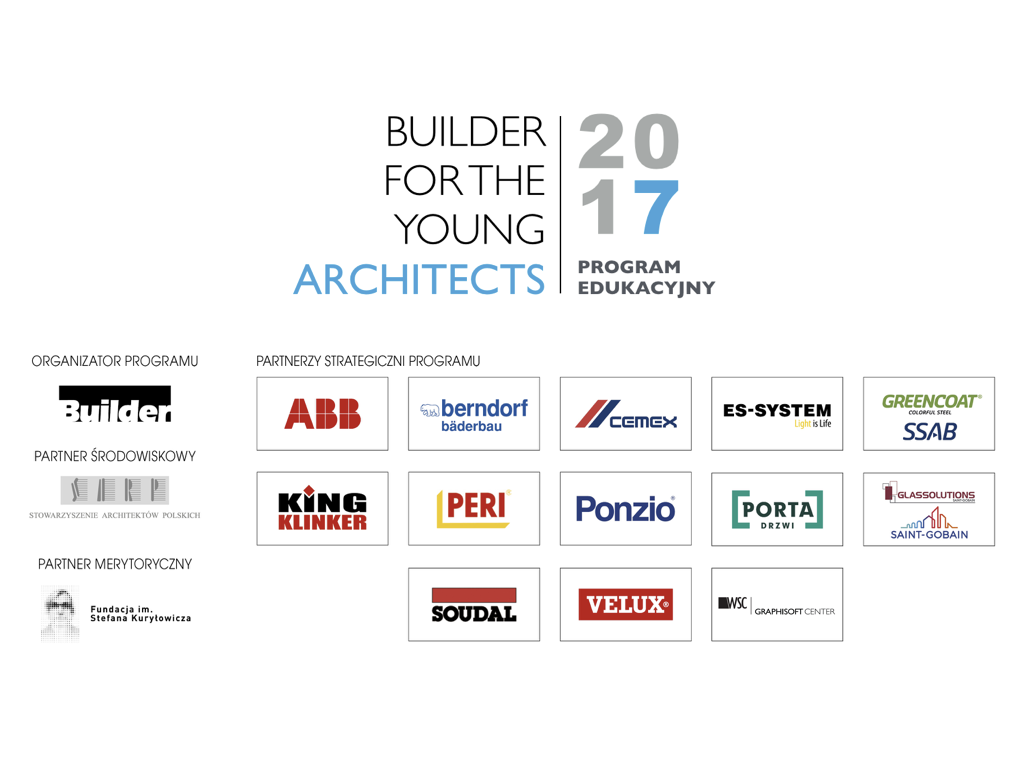 BUILDER FOR THE YOUNG ARCHITECTS