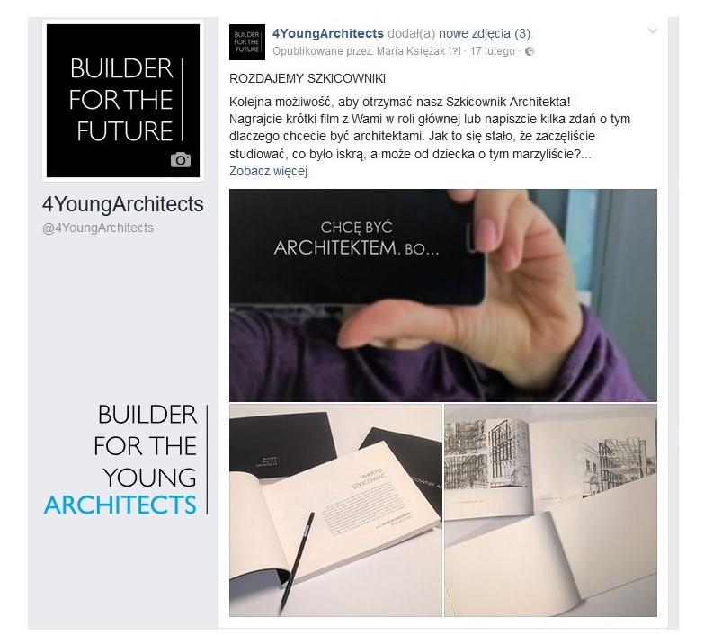 DLACZEGO CHCĘ BYĆ ARCHITEKTEM – KONKURS NA @4YOUNGARCHITECTS