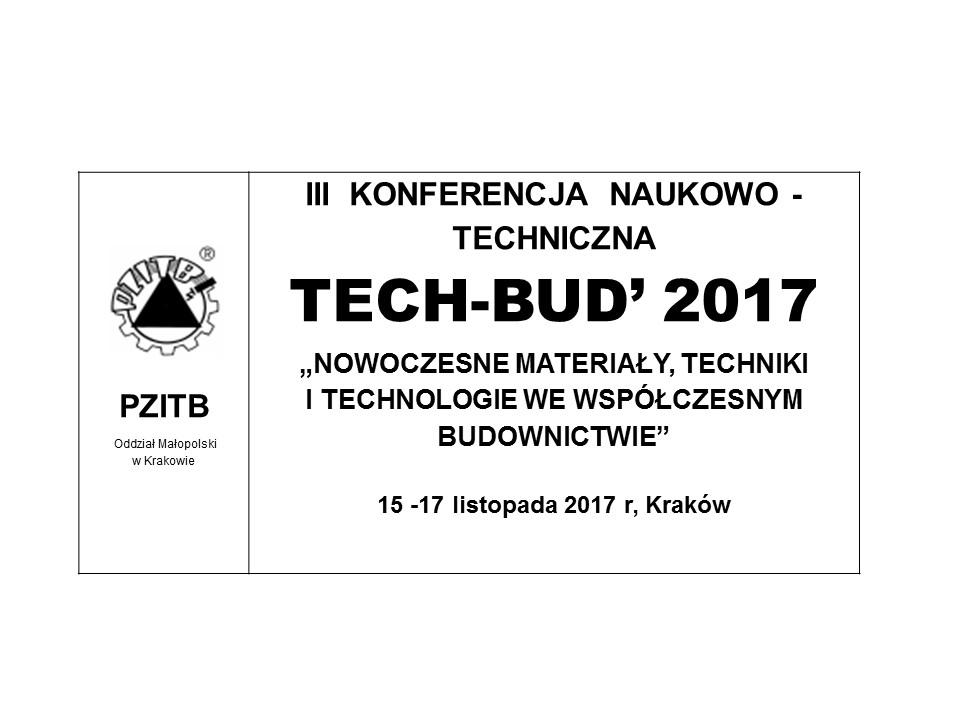 III  KONFERENCJA TECH-BUD'2017