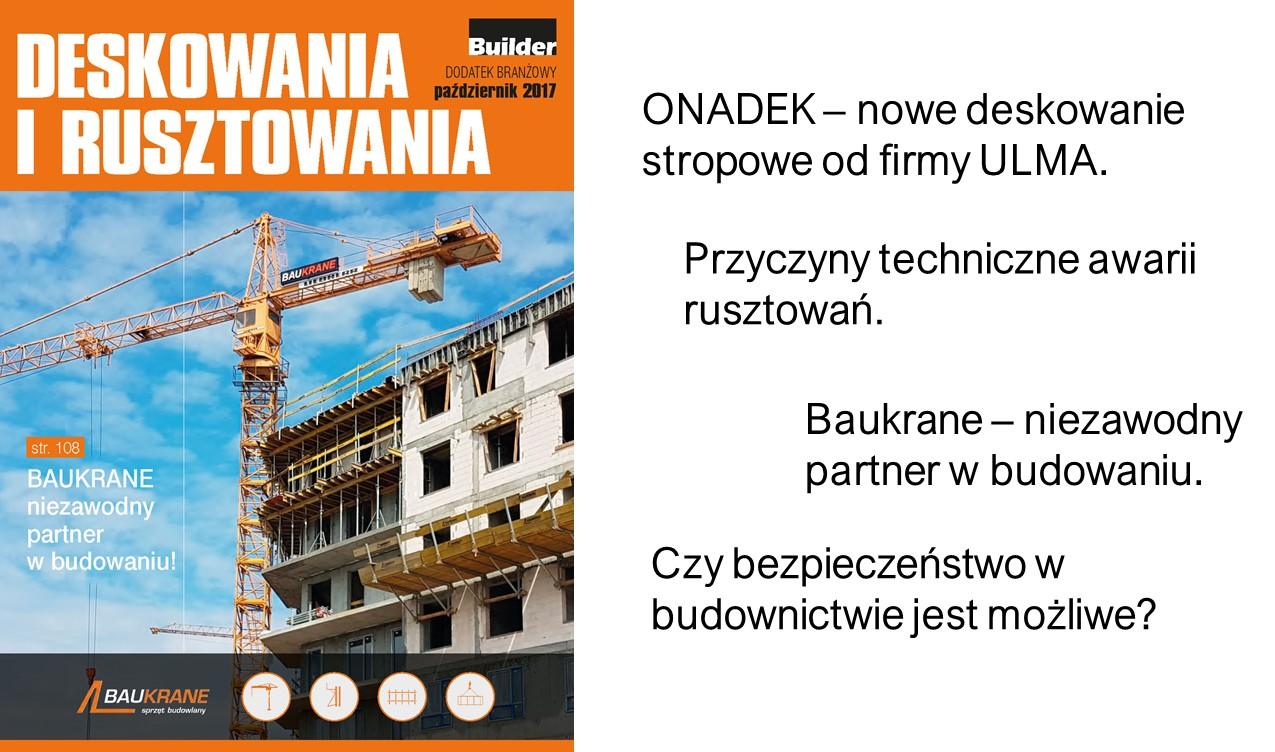 BUILDER – DODATEK BRANŻOWY – PAŹDZIERNIK 2017