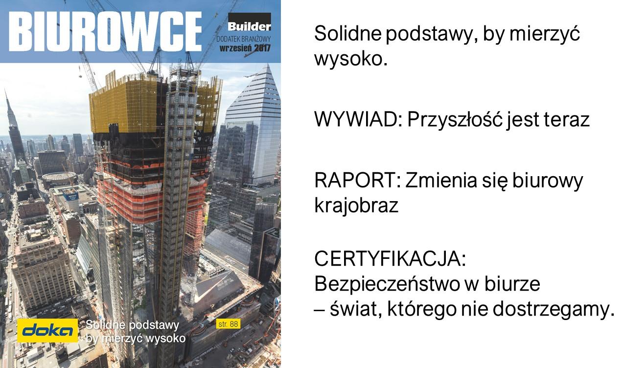BUILDER – DODATEK BRANŻOWY – WRZESIEŃ 2017