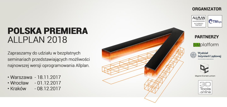 POLSKA PREMIERA ALLPLAN 2018. SEMINARIA W WARSZAWIE, WROCŁAWIU I KRAKOWIE