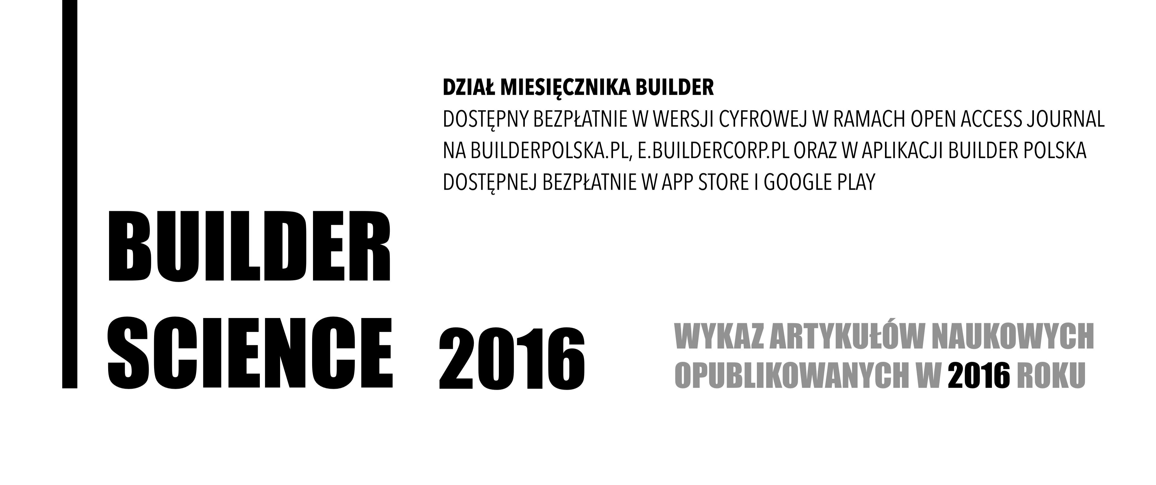 BUILDER SCIENCE 2016