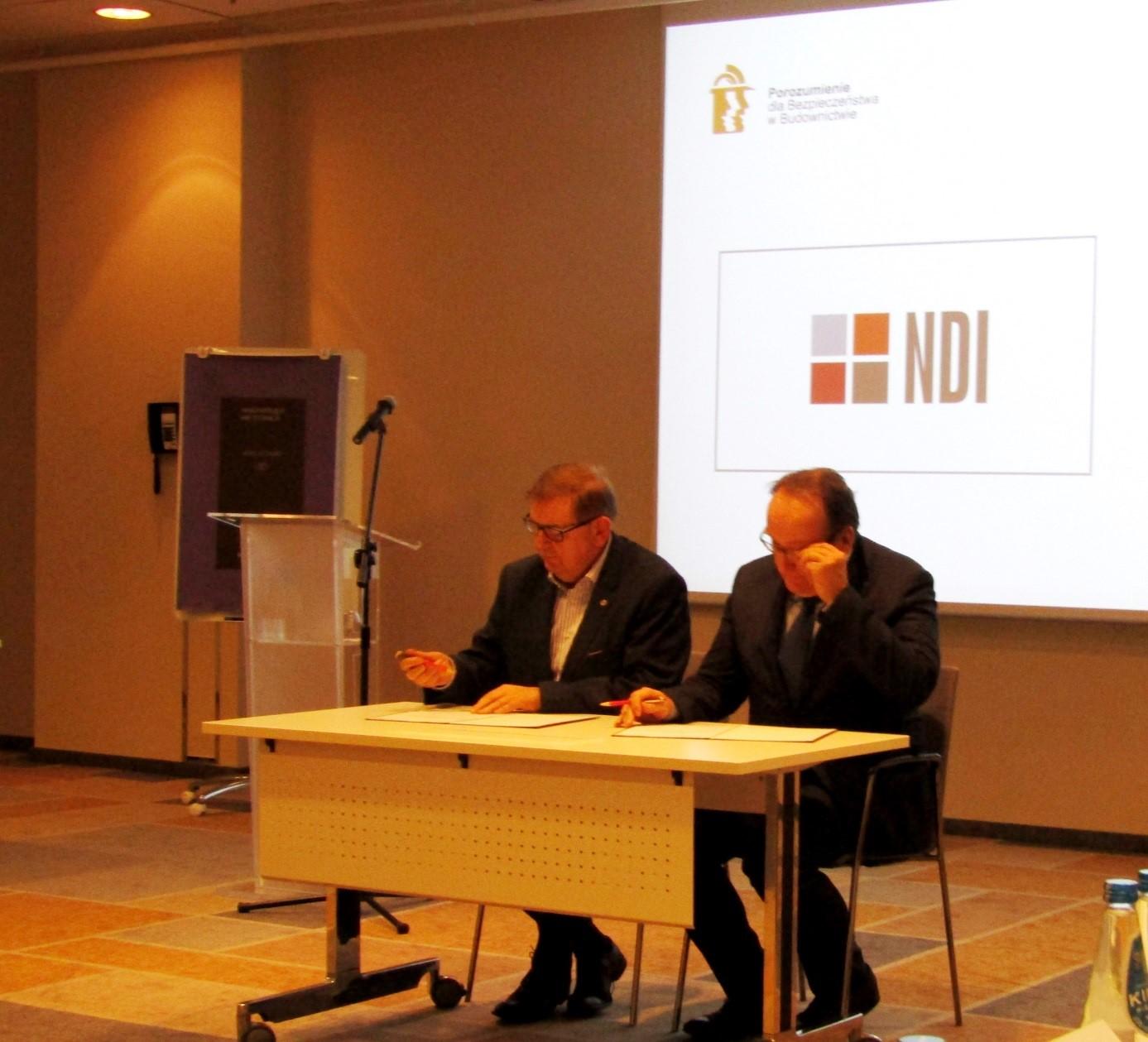 Grupa NDI członkiem zrzeszonym Porozumienia dla Bezpieczeństwa w budownictwie