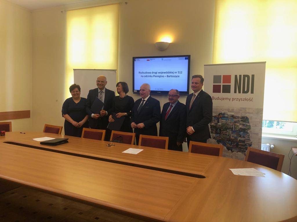 NDI rozbuduje drogę 512 Pieniężno – Bartoszyce