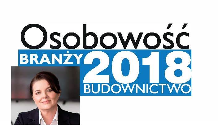 OSOBOWOŚĆ BRANŻY 2018 – KRYSTYNA BARAN PREZES ZARZĄDU, WIŚNIOWSKI SP. Z O.O. S.K.A.