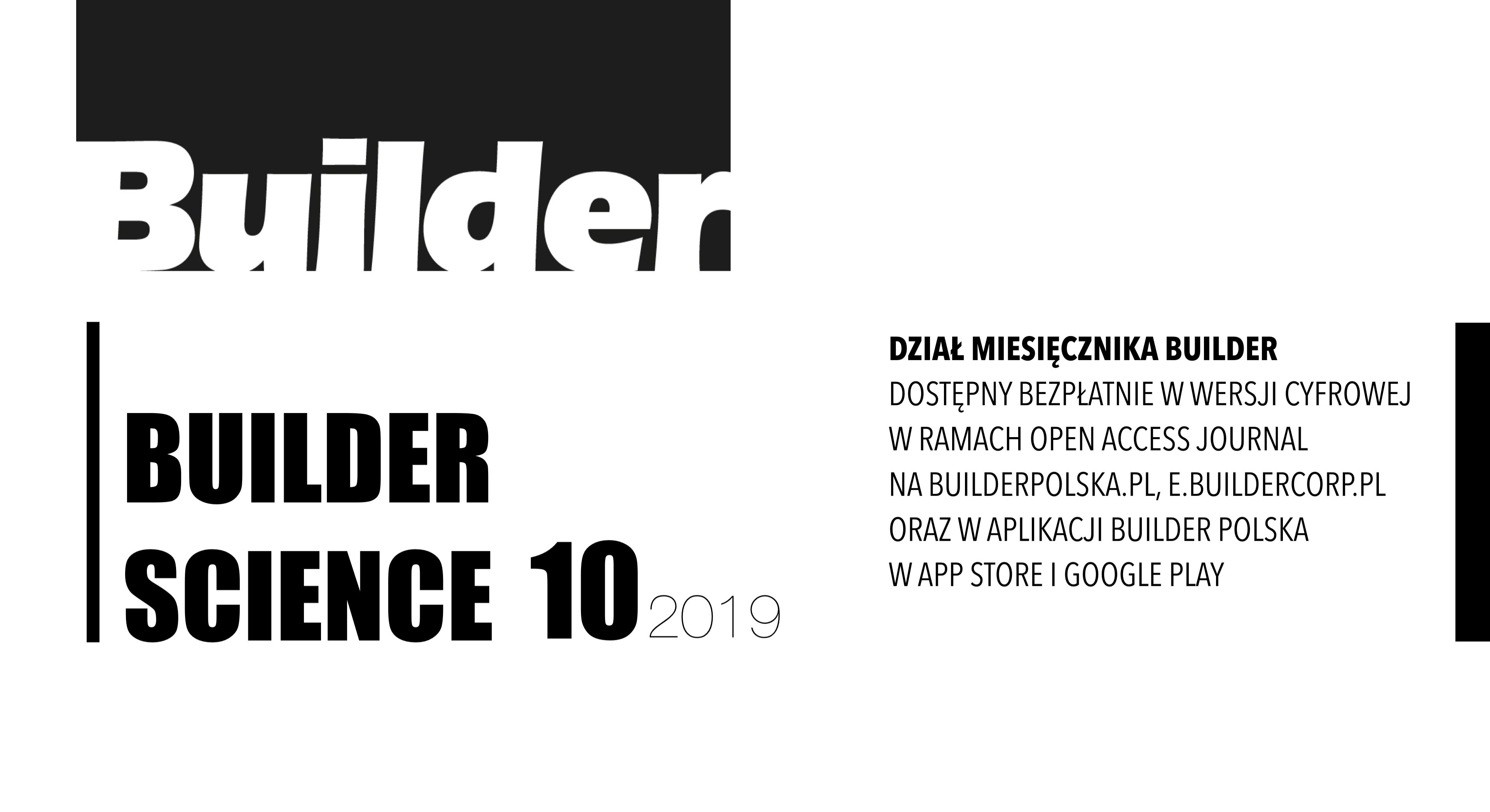 BUILDER SCIENCE 10.2019