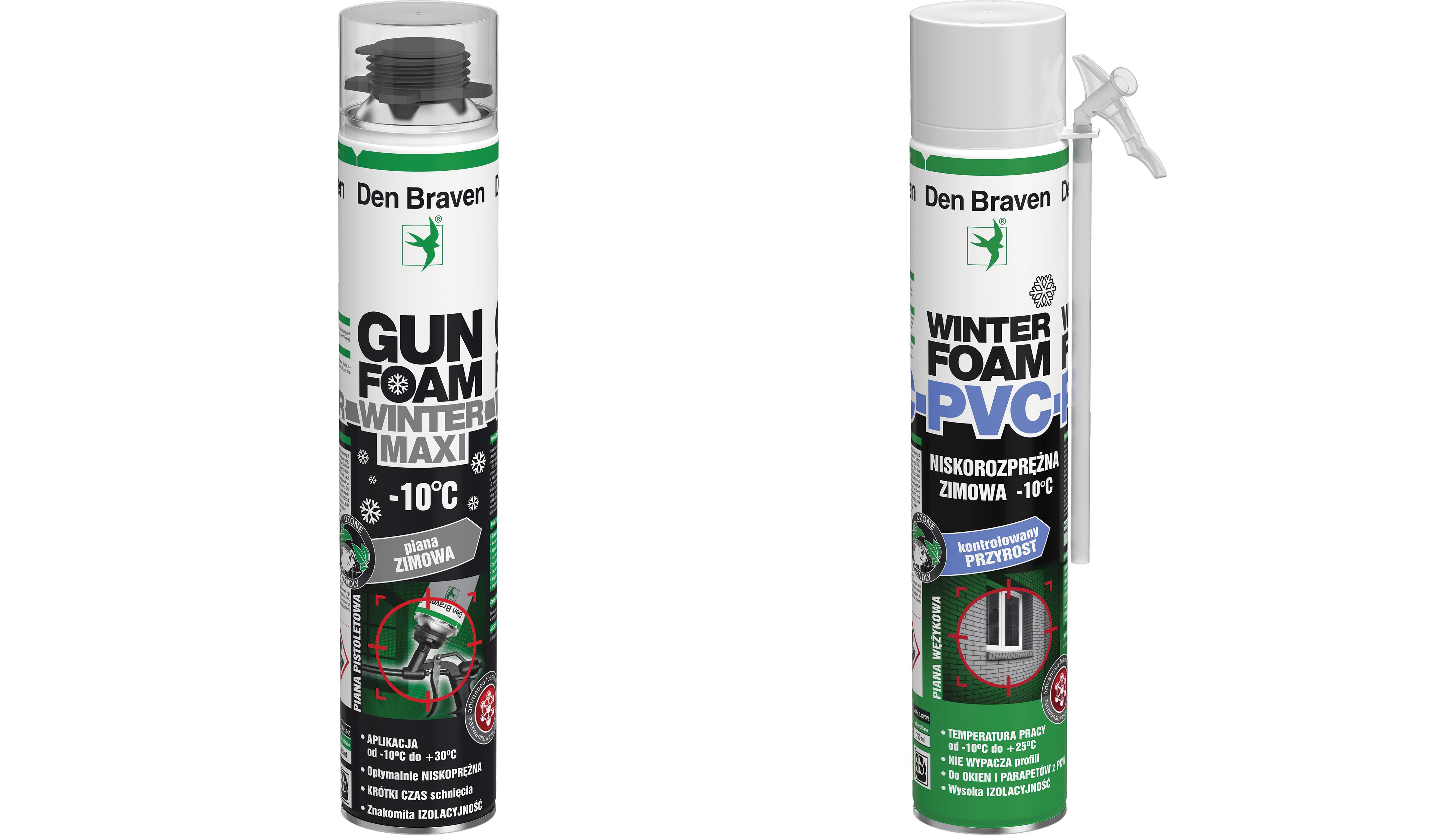 ZMIEŃ PIANY NA ZIMOWE – GUN FOAM WINTER I WINTER FOAM PVC MARKI DEN BRAVEN