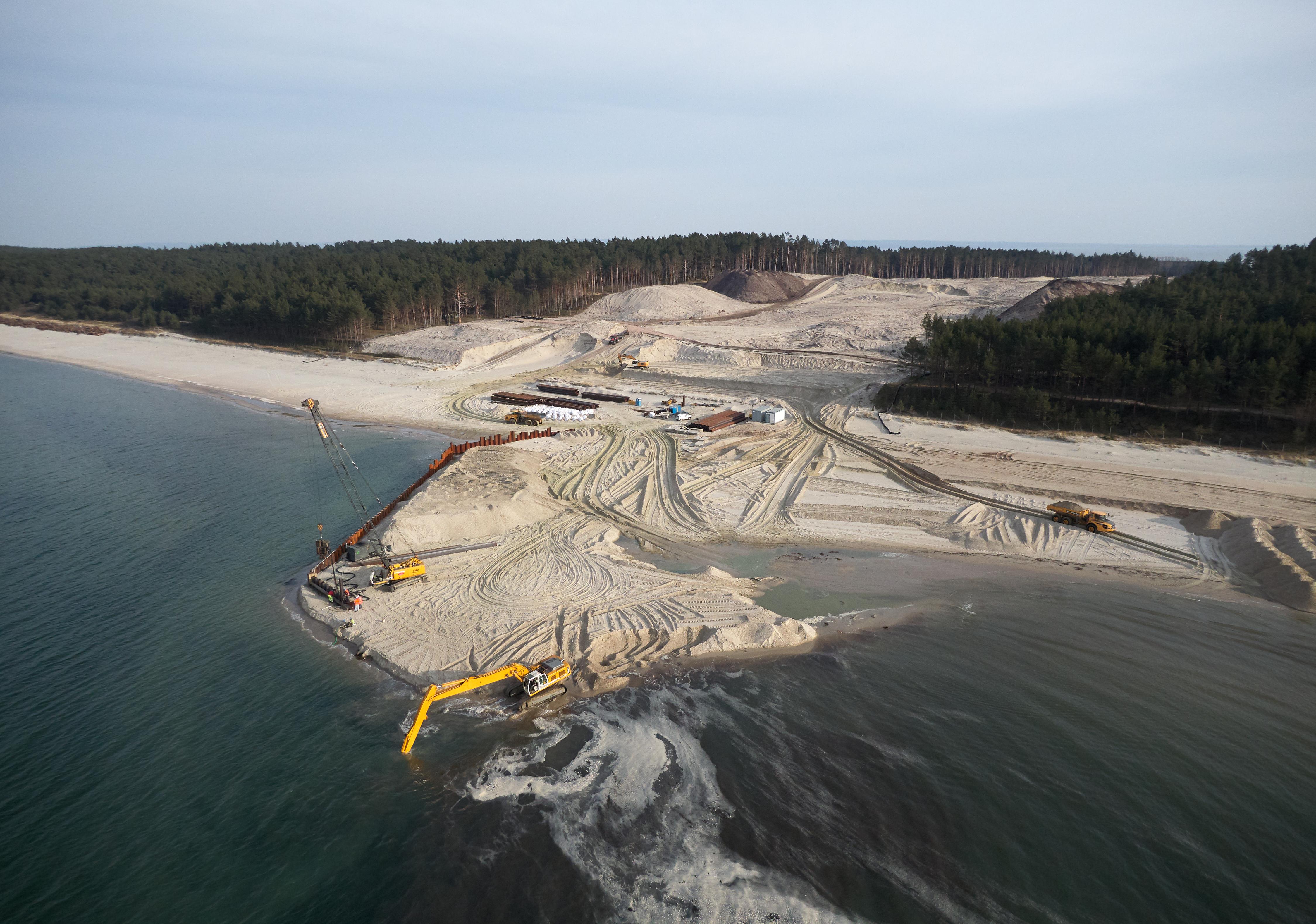 Komunikat dot. budowy drogi wodnej łączącej Zalew Wiąlany z Zatoką Gdańską – kwiecień 2020