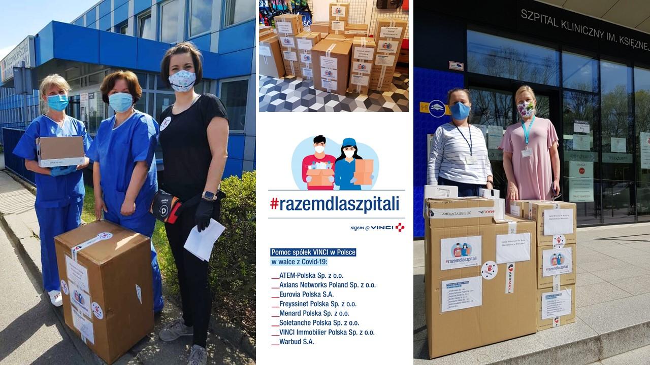 #Razemdlaszpitali  – piękny gest branży budowlanej, spółek Grupy VINCI działających w Polsce