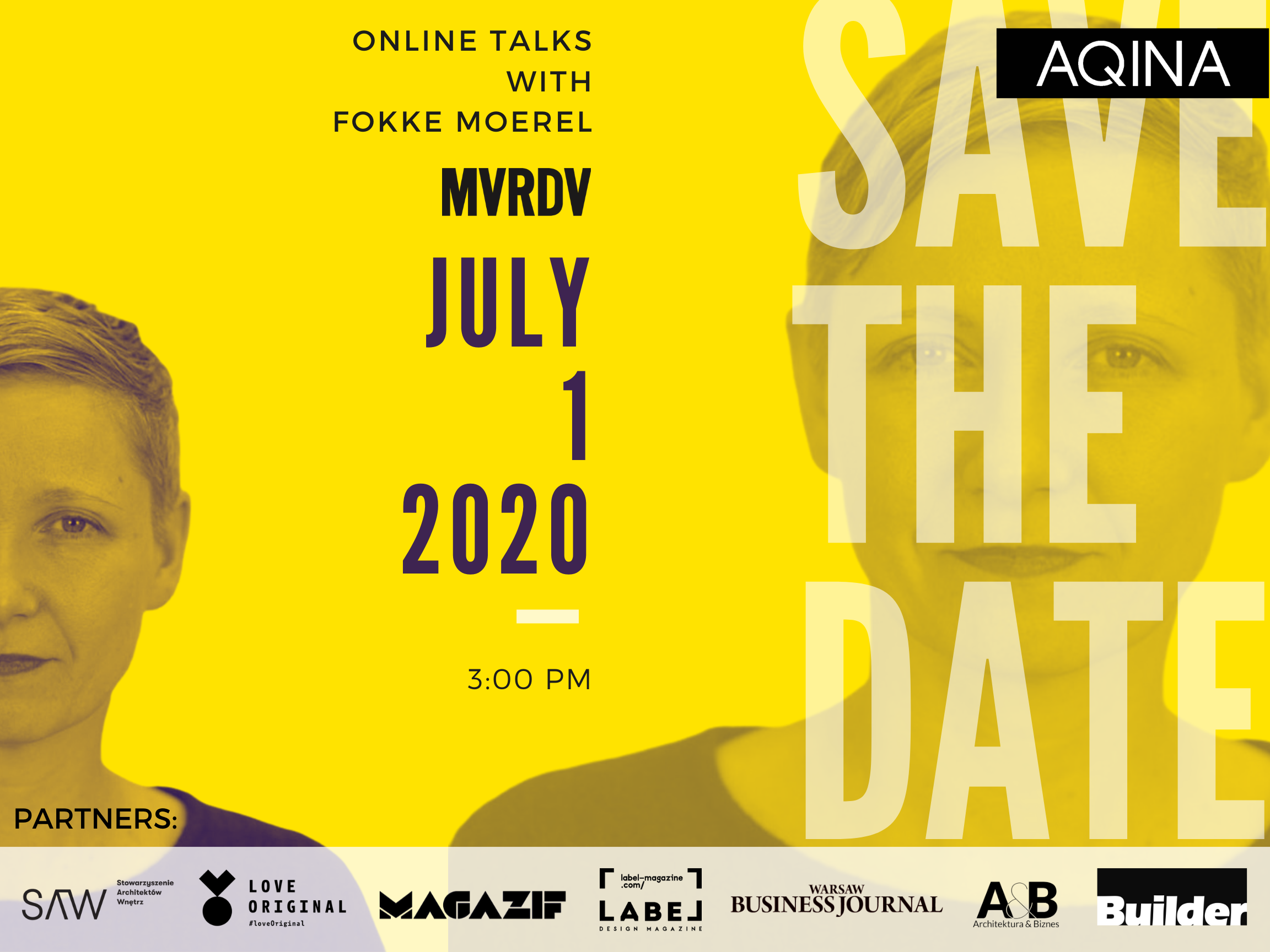 1 lipca – MVRDV w Polsce – Nowy cykl webinarów AQINA TV