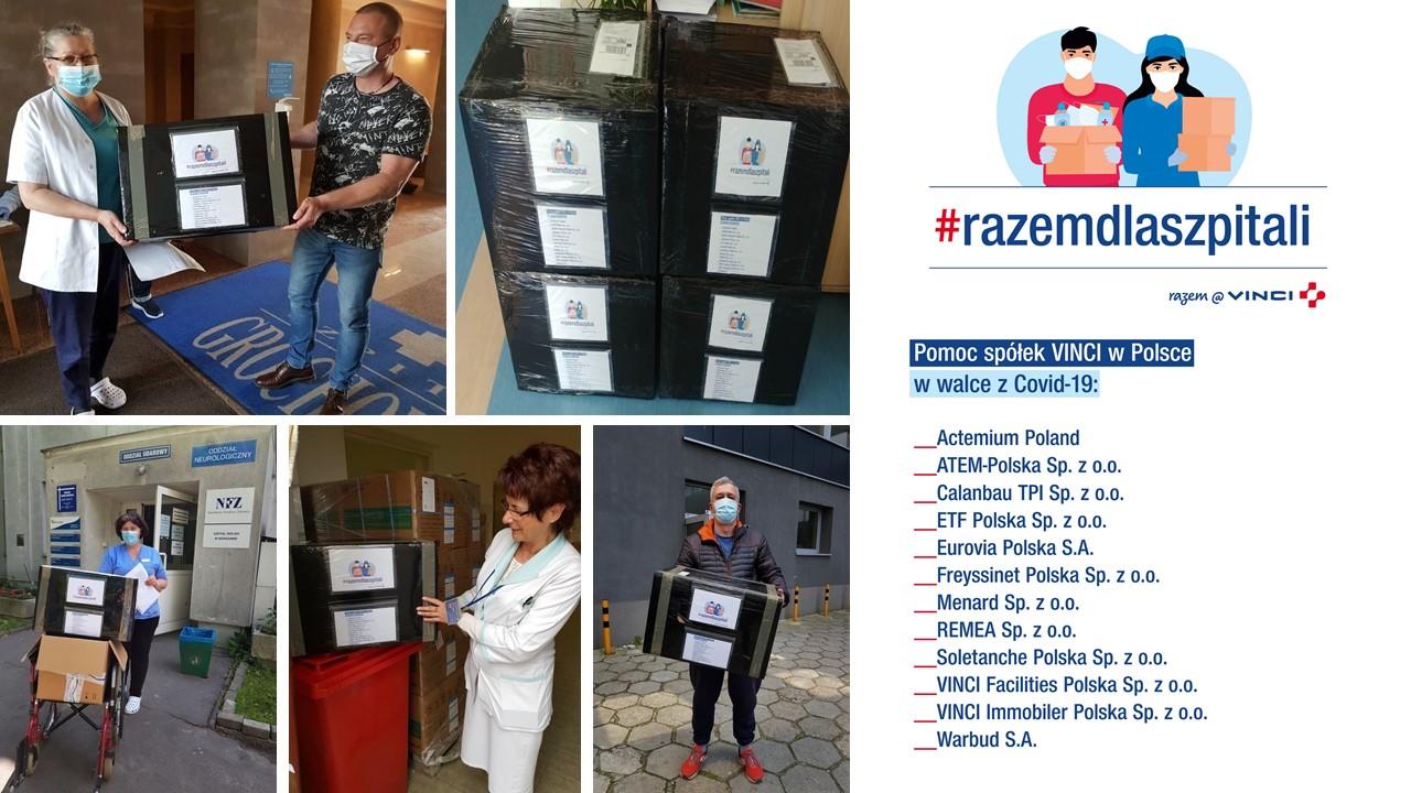 Spółki Grupy VINCI działające w Polsce nie ustają w pomocy dla medyków