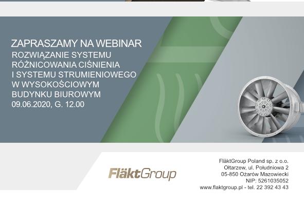 FläktGroup Webinar – 9 czerwca, g. 12.00
