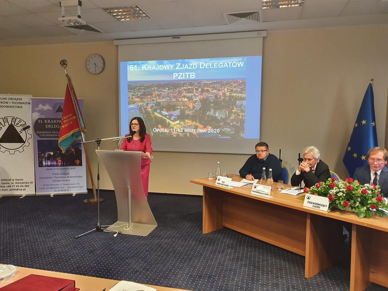 Prof. Maria Kaszyńska przewodniczącą Zarządu Głównego PZITB