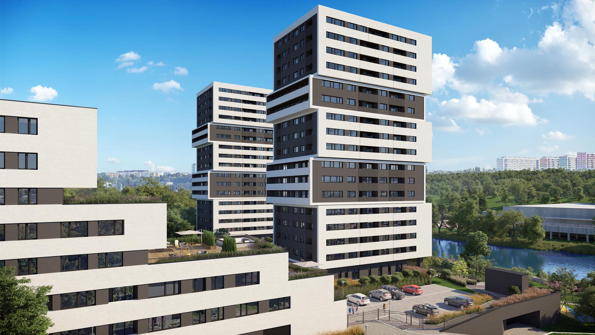 Aura Towers prestiżowa inwestycja z zastosowaniem rozwiązań Schöck Isokorb® T oraz trzpieni dylatacyjnych Schöck LD