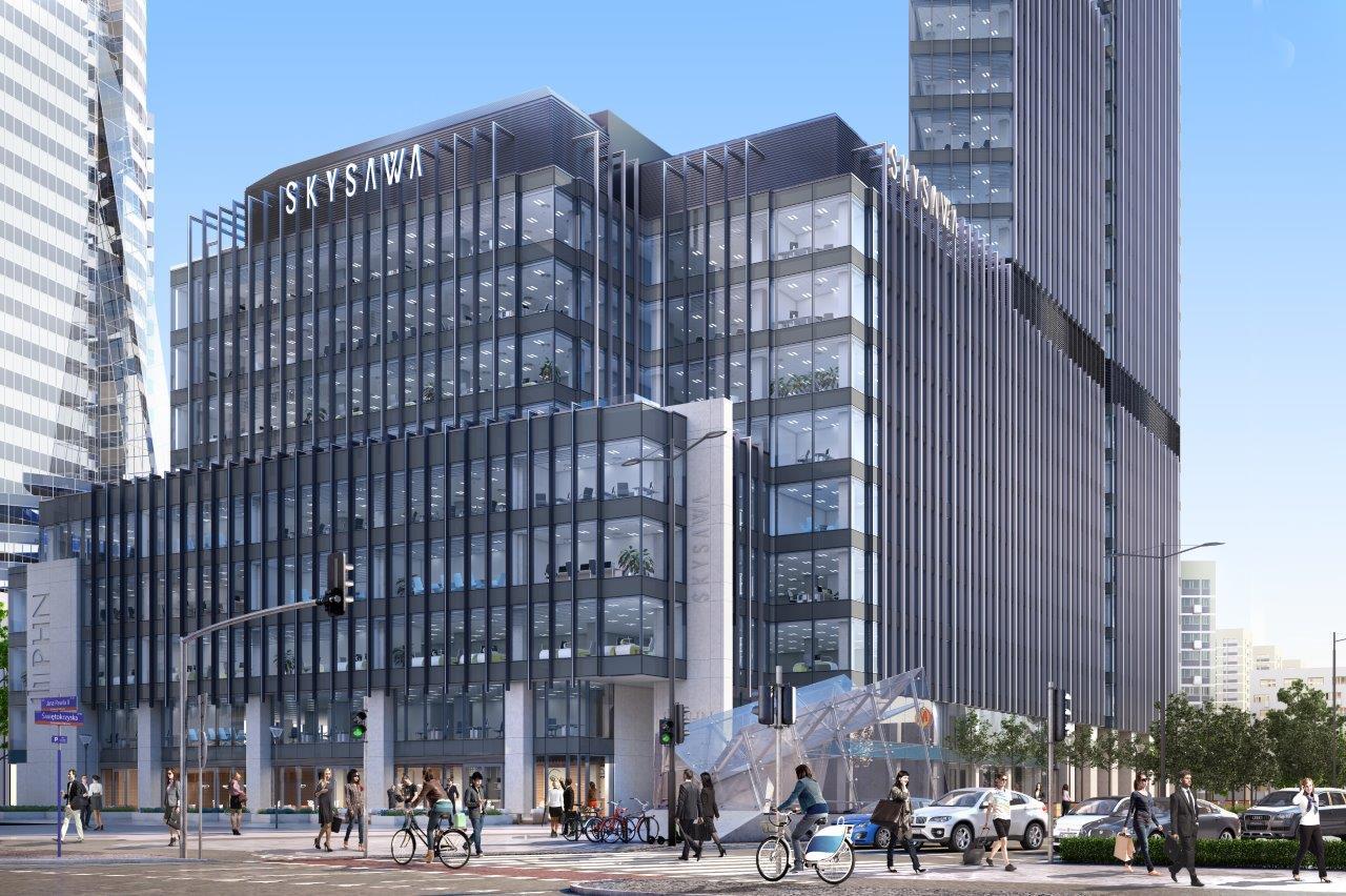 SKYSAWA – budynek najwyższej klasy ubrany w fasady Aluprof