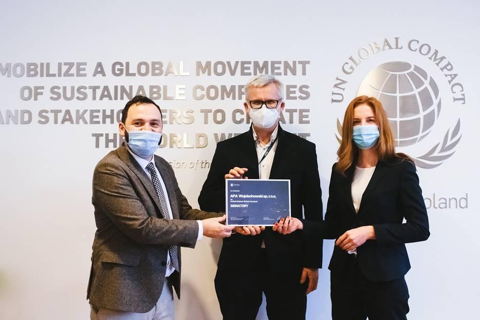 APA Wojciechowski oficjalnie dołączyła do United Nations Global Compact