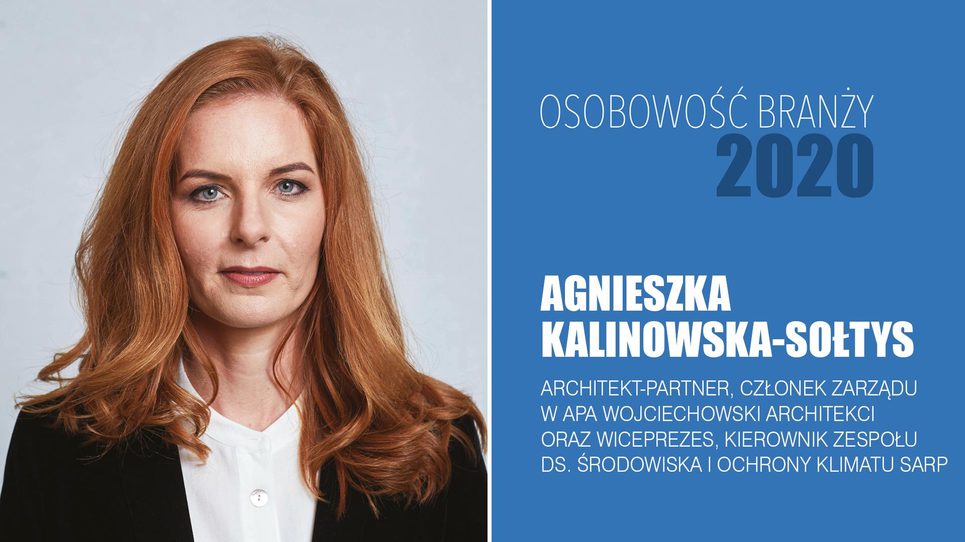 AGNIESZKA KALINOWSKA-SOŁTYS – Osobowość Branży 2020