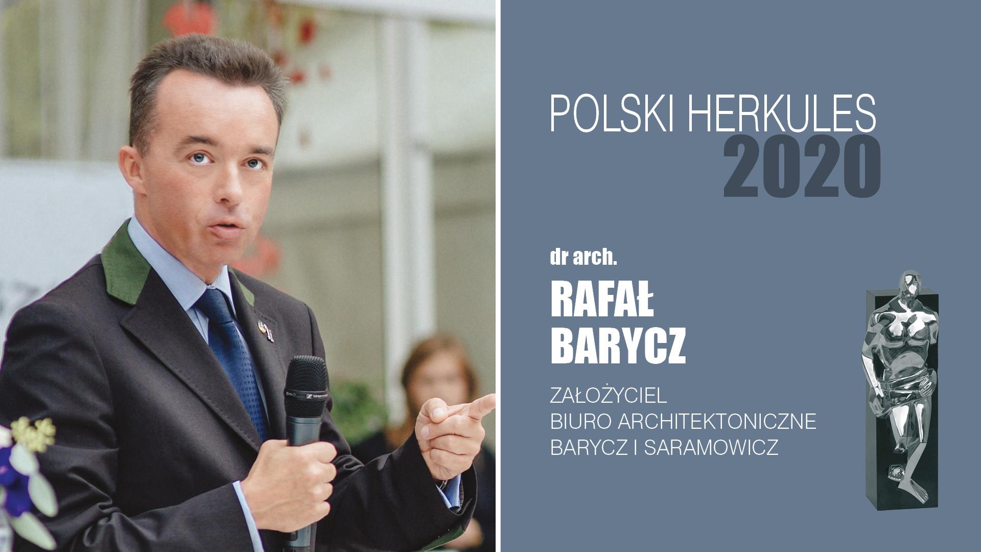 DR ARCH. RAFAŁ BARYCZ – Polski Herkules 2020