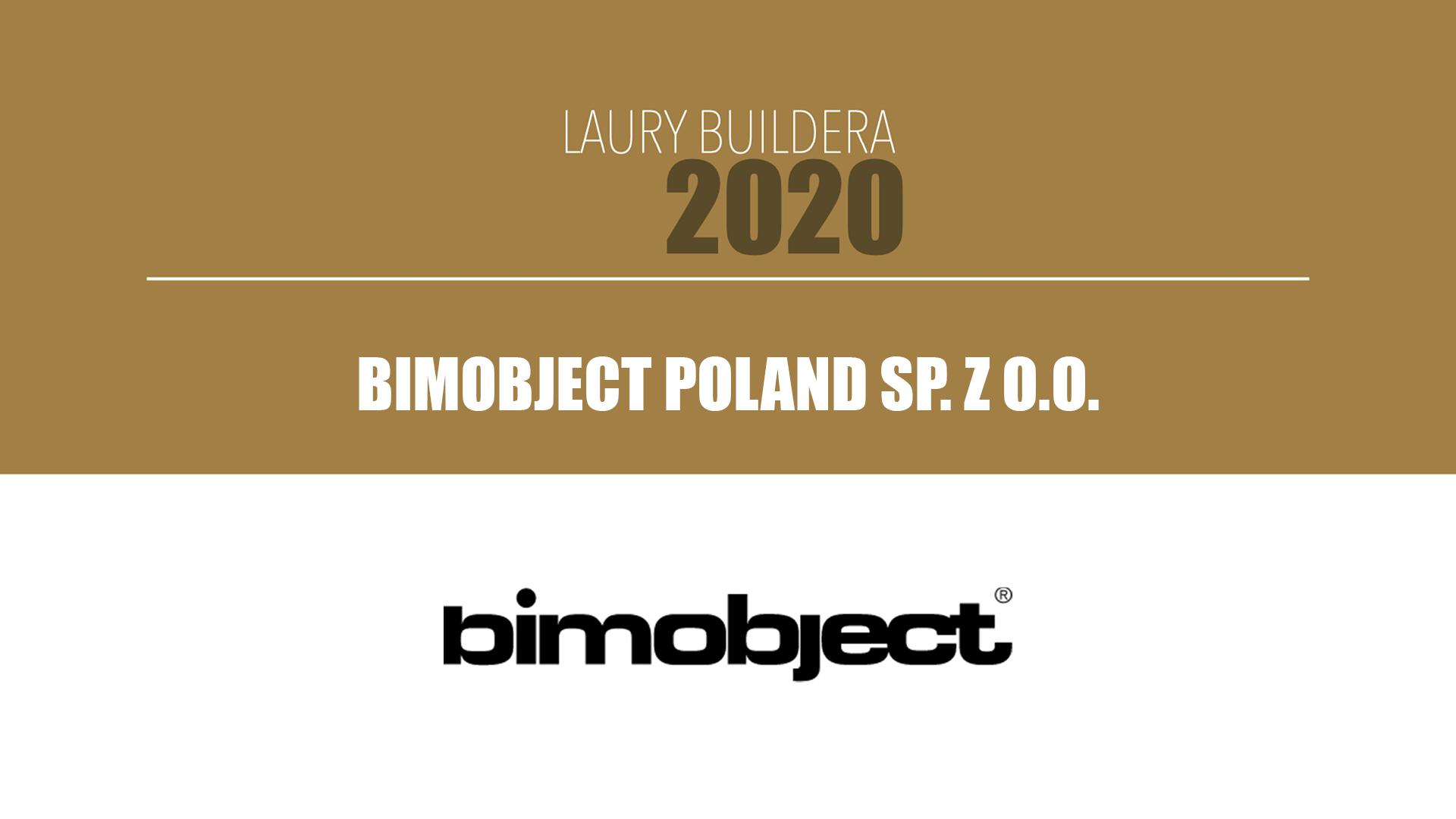 BIMOBJECT POLAND SP. Z O.O. – LAURY BUILDERA 2020