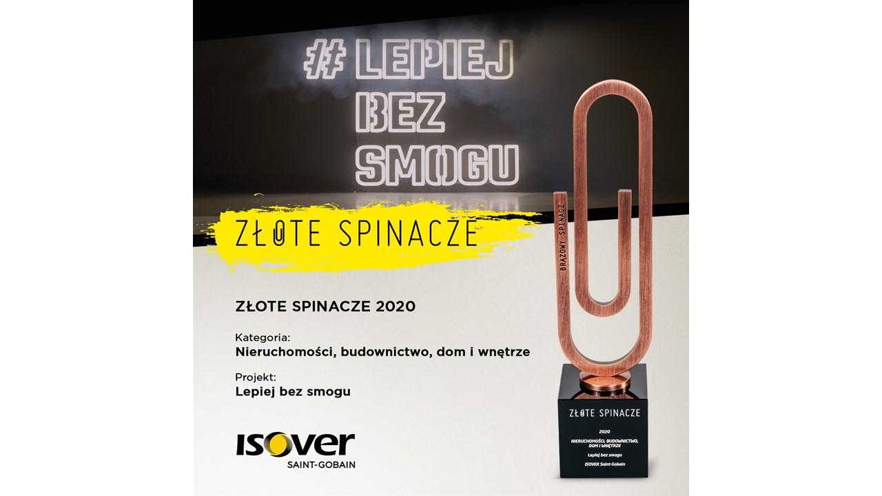 Kampania Lepiej Bez Smogu nagrodzona w konkursie Złote Spinacze