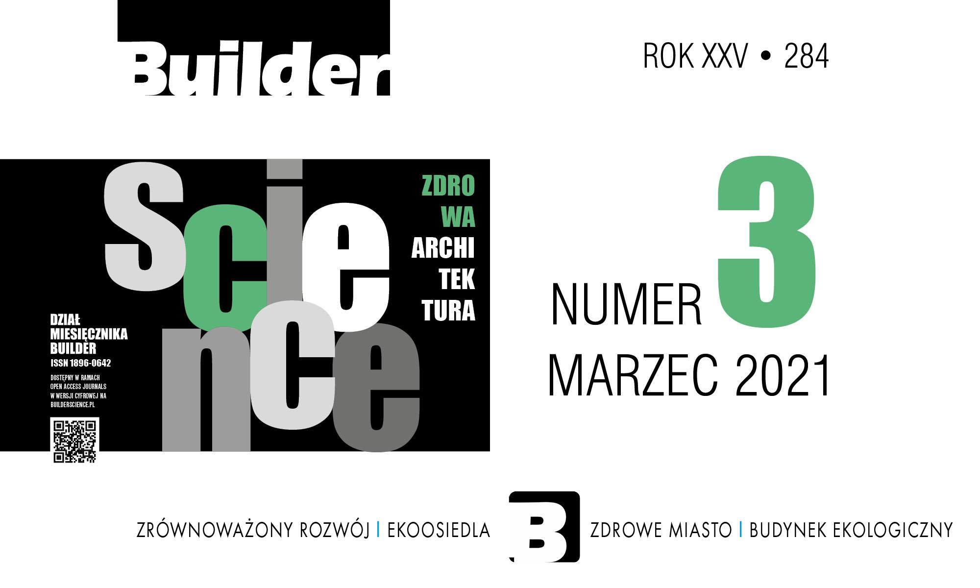 BUILDER SCIENCE 03.2021