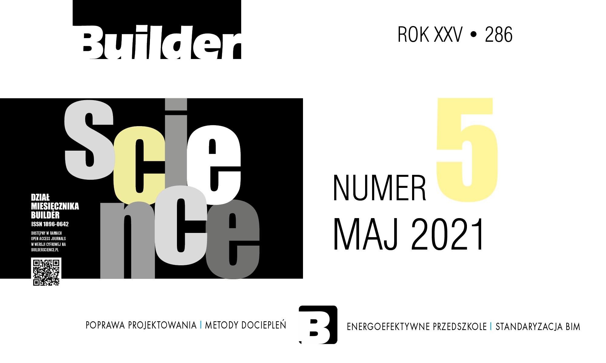 BUILDER SCIENCE 05.2021