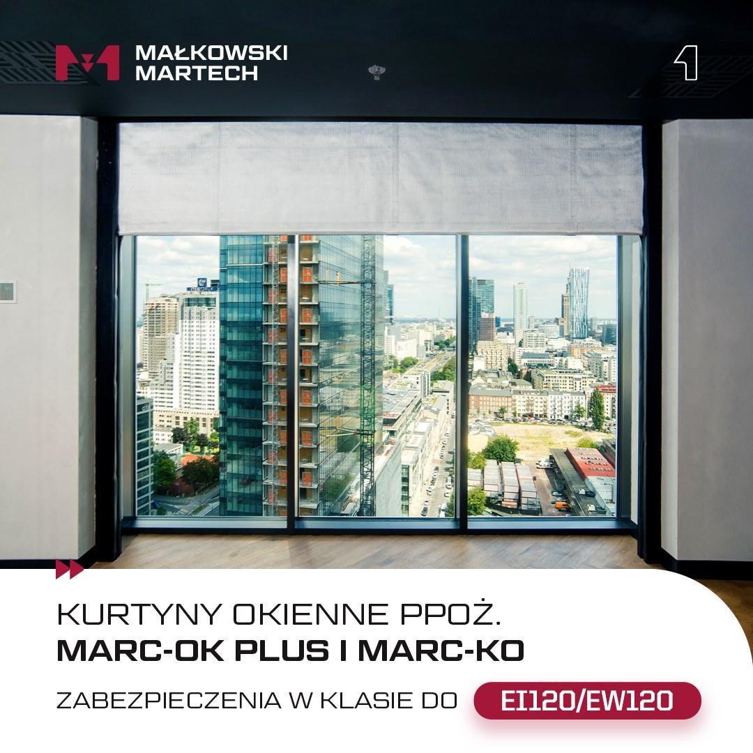 Przeciwpożarowe kurtyny okienne od Małkowski-Martech S.A.