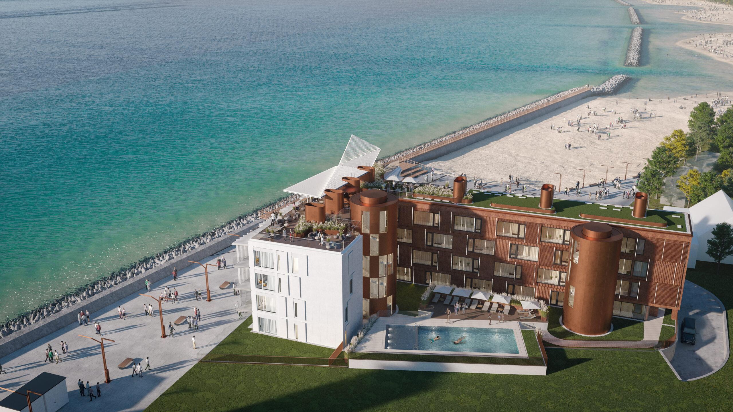 Nadmorski projekt APA Wojciechowski Architekci dla Sono Development z pozwoleniem na budowę!