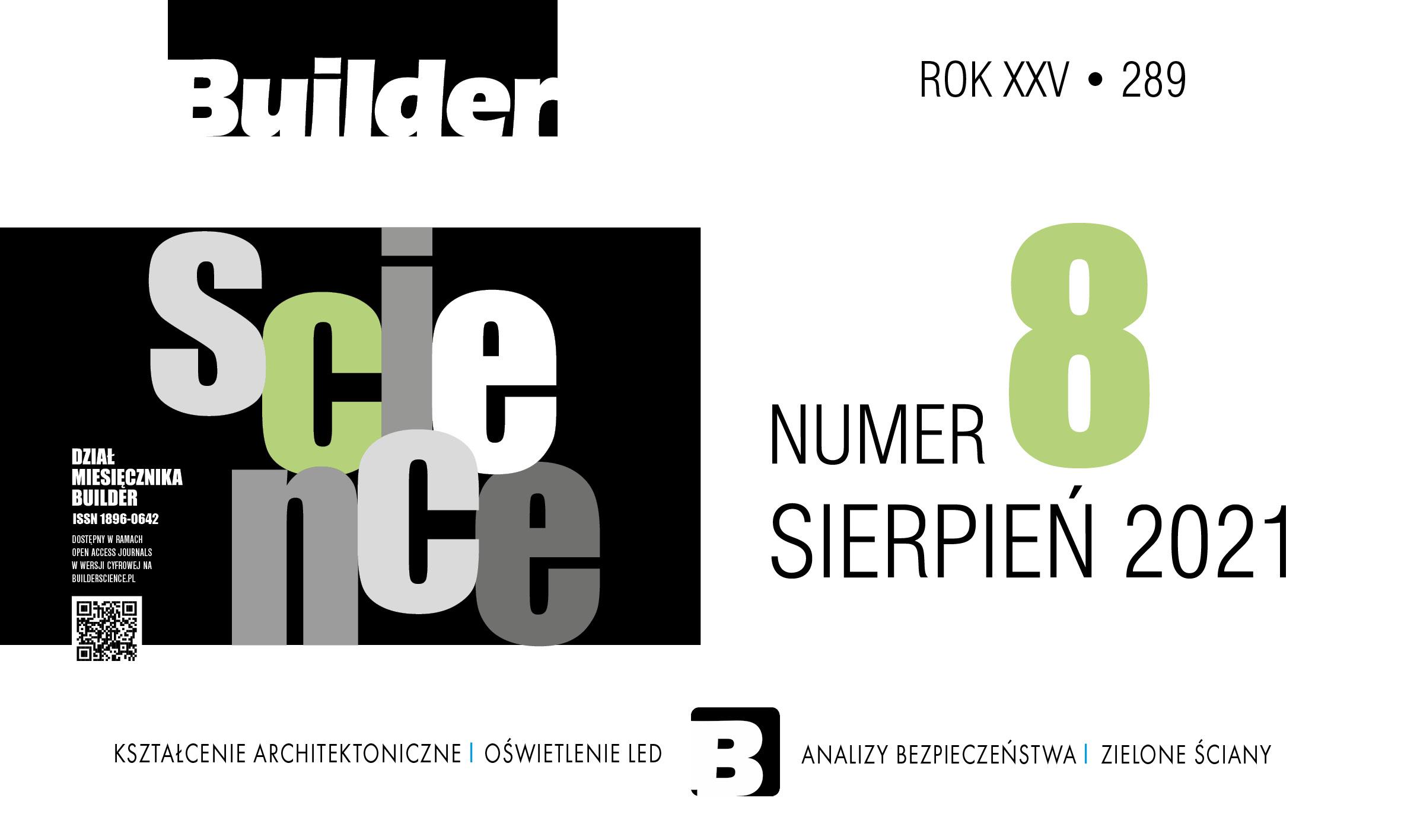 BUILDER SCIENCE 08.2021