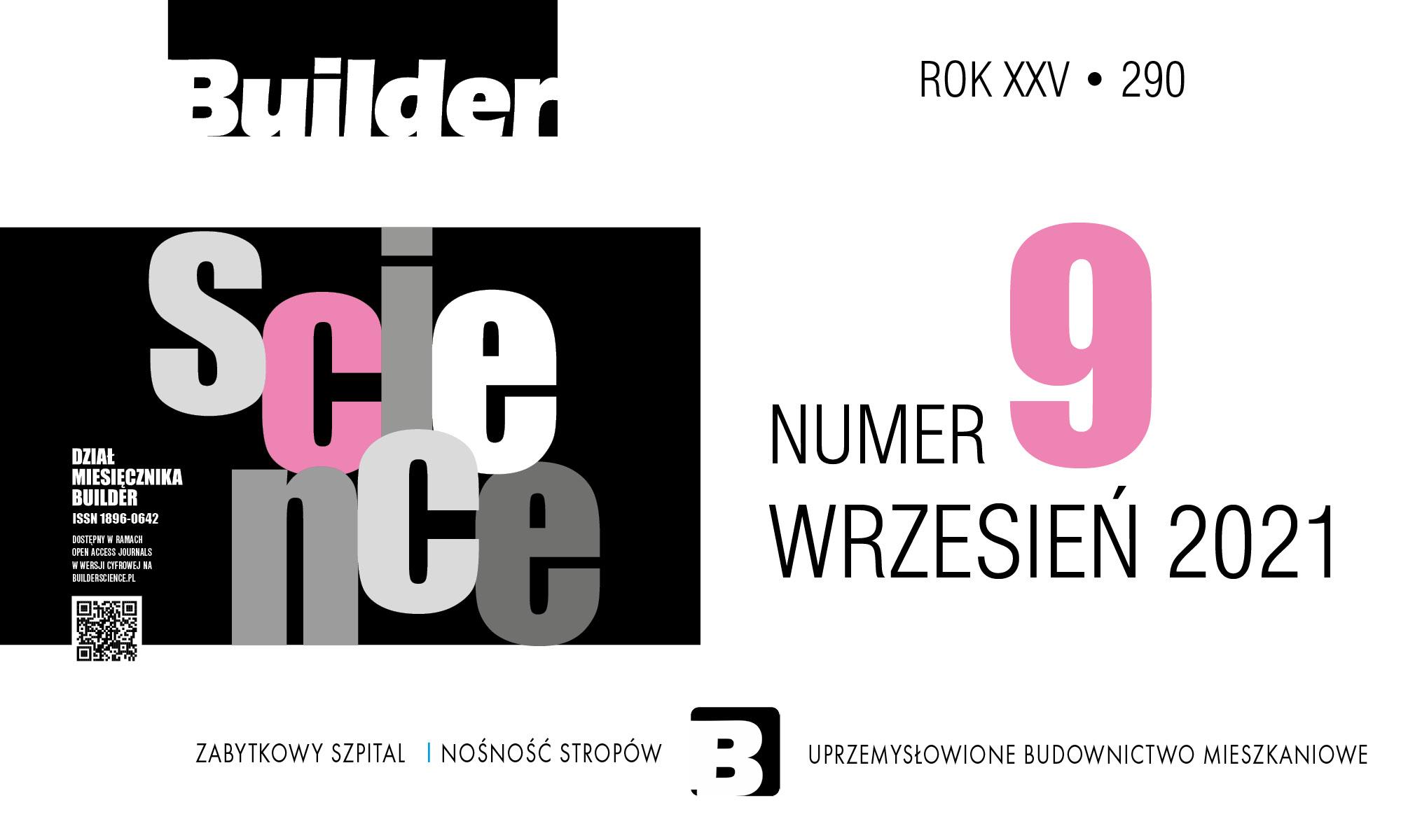 BUILDER SCIENCE 09.2021